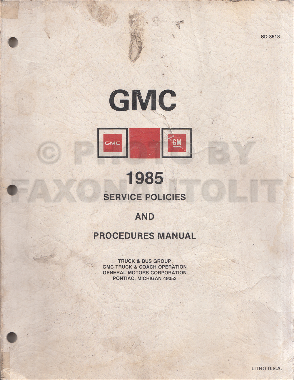 1985 Gmc Chevy Ck Wiring Diagram Original Pickup Suburban Sierra Jimmy Blazer