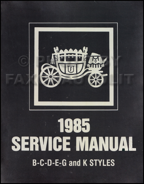 1985 Cadillac Body Repair Shop Manual Reprint