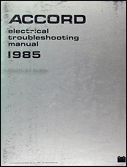 1985 Honda Accord Electrical Troubleshooting Manual Original