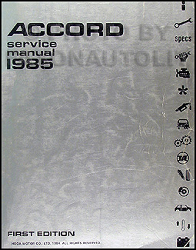 1985 Honda Accord Repair Manual Original