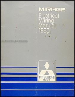 1985 Mitsubishi Mirage Wiring Diagram Manual Original