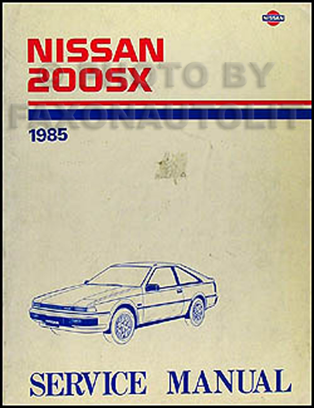 1985 Nissan 200SX Repair Manual Original