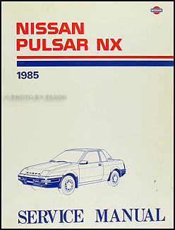 1985 Nissan Pulsar NX Repair Manual Original