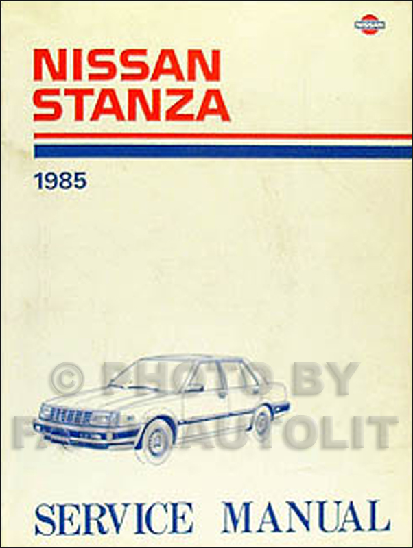 1985 Nissan Stanza Repair Manual Original