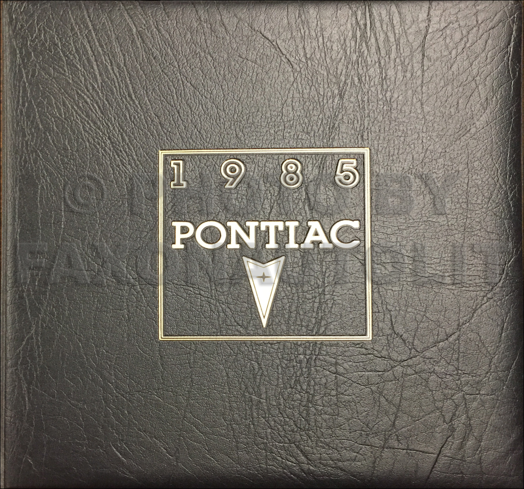1985 Pontiac Color & Upholstery Dealer Album, Data Book Original