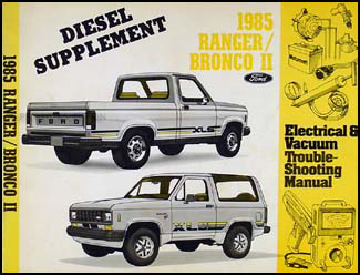 1985 Ford Ranger and Bronco II Electrical Troubleshooting Diesel Supp.