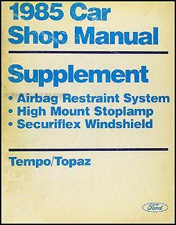 1985 Tempo & Topaz Brake/Suspension Original Supplement