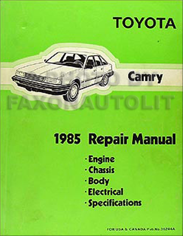 1985 Toyota Camry Repair Manual Original