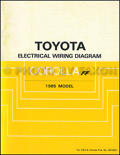 1985 Toyota Corolla Fwd Wiring Diagram Manual Original