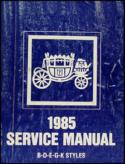 1985 Buick & Grand National Original Body Repair Manual 85