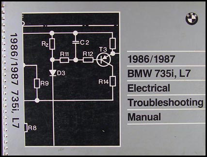 1986-1987 BMW 735i L7 Electrical Troubleshooting Manual