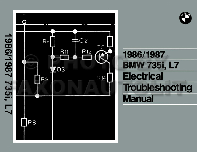 1986-1987 BMW 735i L7 Electrical Troubleshooting Manual Reprint