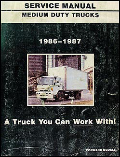 1986-1987 GMC W4-W7 Tilt Cab Trucks Repair Shop Manual Original