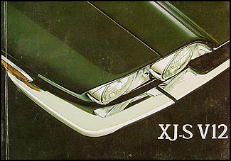 1986-1987 Jaguar XJS V12 Owner's Manual Original