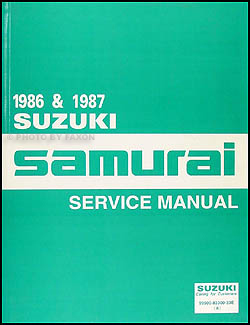 1986-1987 Suzuki Samurai Repair Manual Original