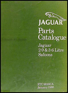 1986-1988 Jaguar XJ6 XJ40 Parts Book Orig Daimler Sovereign Vanden Plas
