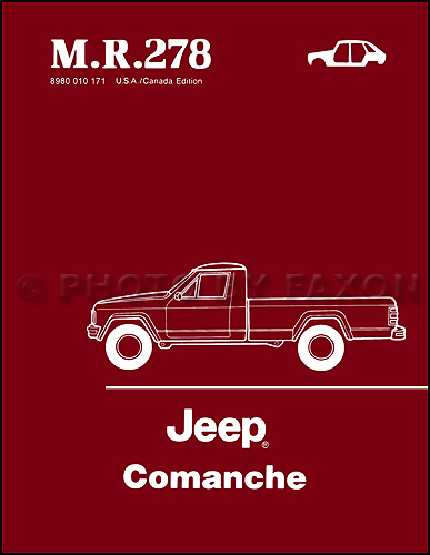 1986-1988 Jeep Comanche Body Manual Reprint M.R. 278
