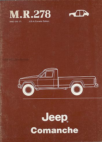 1986-1988 Jeep Comanche Body Manual Original - -M.R. 278