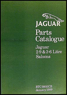 1986-1989 Jaguar XJ6 XJ40 Parts Book Original, including Daimler Sovereign and Vanden Plas
