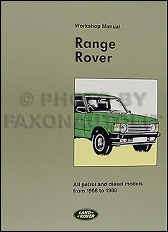 Range Rover 1986 Repair Manual Manual Guide