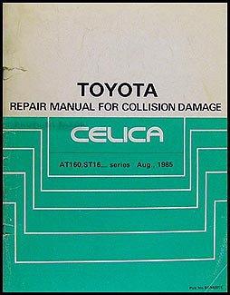 1986-1989 Toyota Celica Body Collision Repair Manual Original