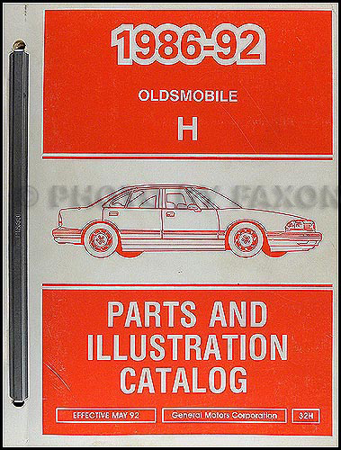 1986-1992 Oldsmobile 88 Parts Book Original