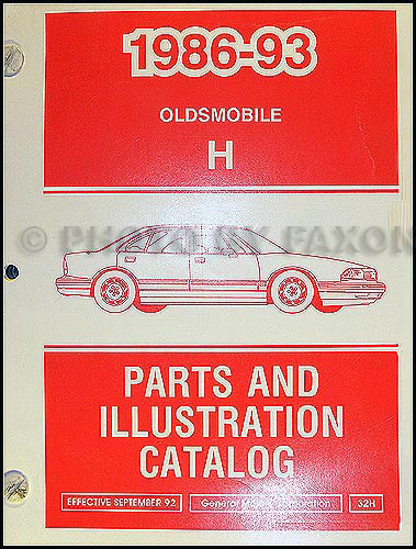 1986-1993 Oldsmobile 88 Parts Book Original