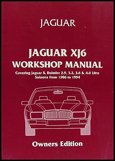 1986-1994 Jaguar XJ6 Do-It-Yourself Repair Manual