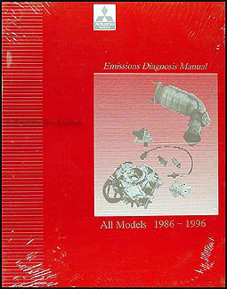 1986-1996 Mitsubishi Emissions Diagnosis Manual Original