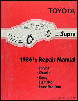 1986 1/2 Toyota Supra Repair Manual Original