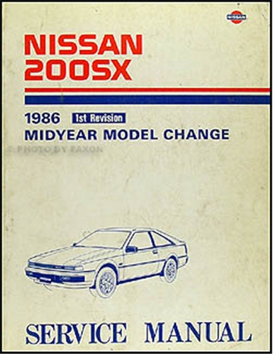 1986 Nissan 200SX Mid-Year Repair Manual Original