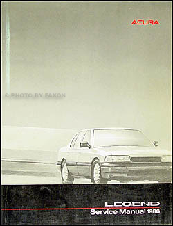1986 Acura Legend Shop Manual Original