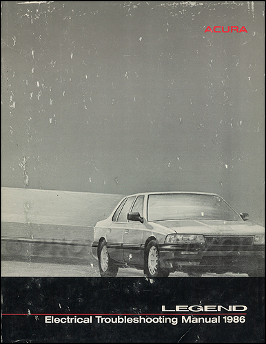 1986 Acura Legend Electrical Troubleshooting Manual Original