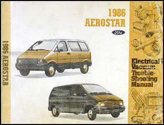 1986 Ford Aerostar Electrical & Vacuum Troubleshooting Manual Original