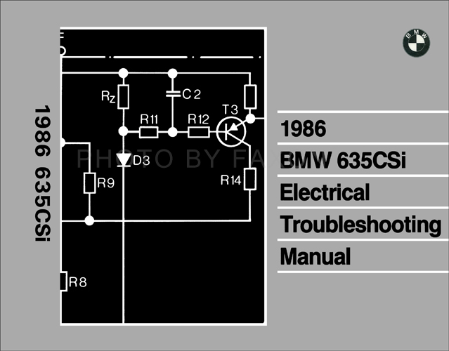 Admirable 1986 Bmw 635Csi Electrical Troubleshooting Manual Reprint Wiring Digital Resources Minagakbiperorg