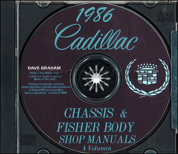 1986 Cadillac Repair Shop Manual and Body Manual on CD-ROM