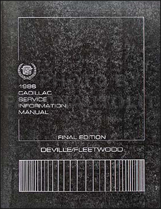 1986 Cadillac Deville & Fleetwood Shop Manual Original