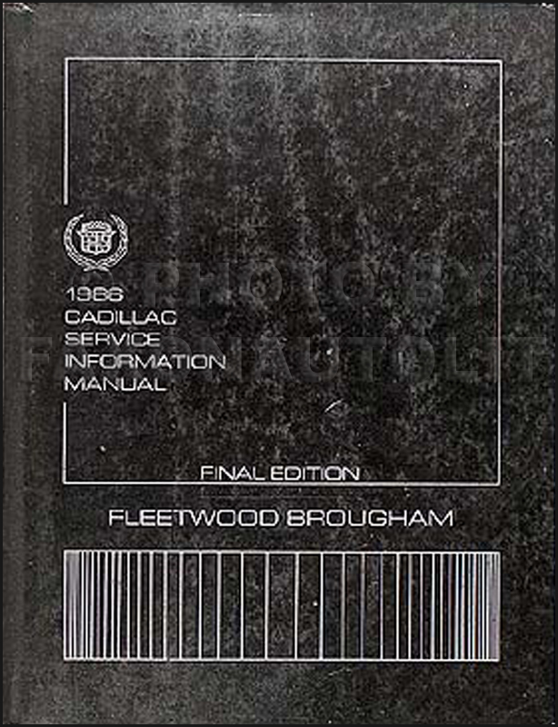 1986 Cadillac Fleetwood Brougham Shop Manual Original