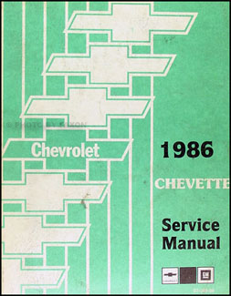 1986 Chevy Chevette Repair Manual Original