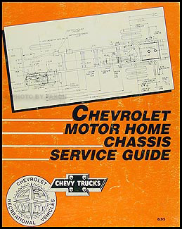 1986 Chevrolet Motor Home Repair Manual Original