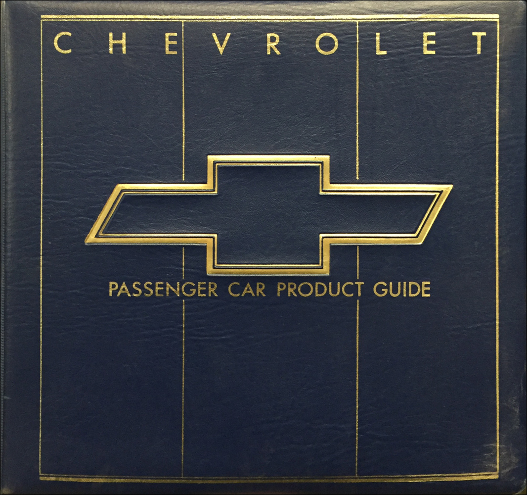 1986 Chevrolet Car Color & Upholstery Dealer Album/Data Book Original