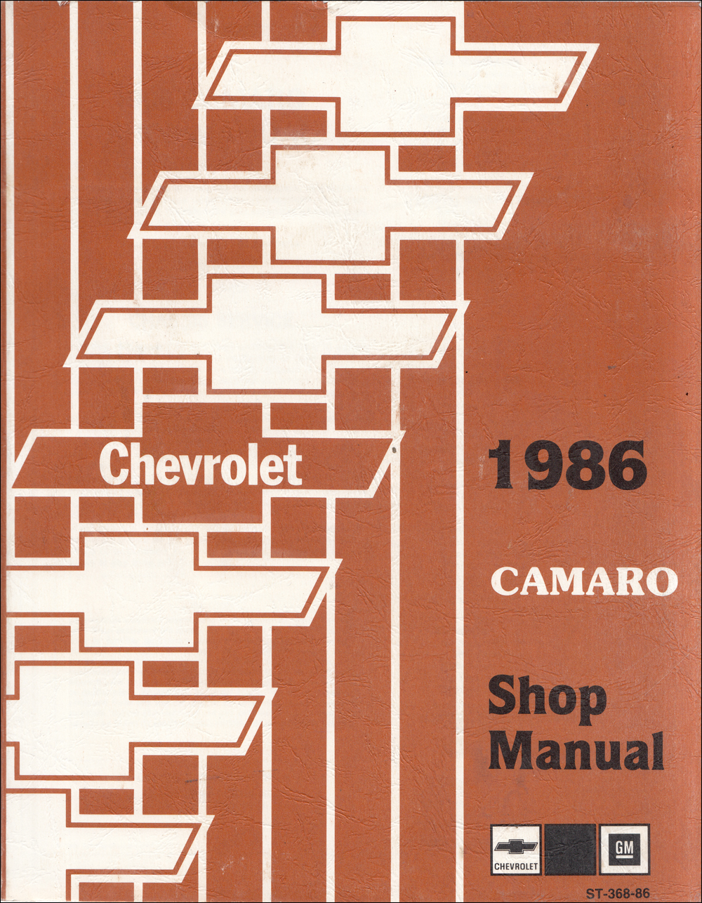 1986 Chevy Camaro Shop Manual Original