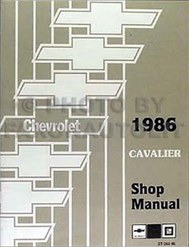 1986 Chevy Cavalier Repair Manual Original