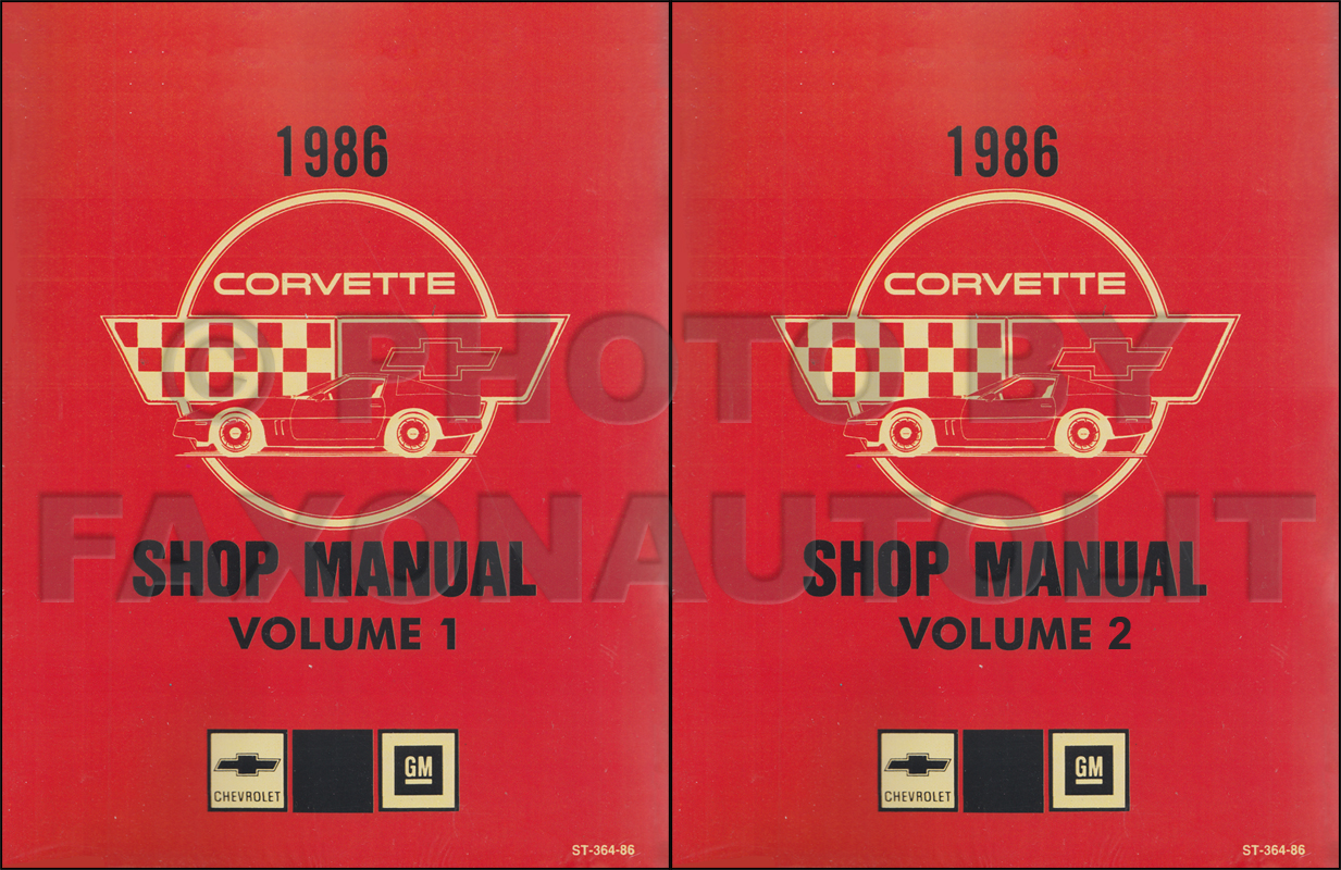 1986 Corvette Shop Manual Original