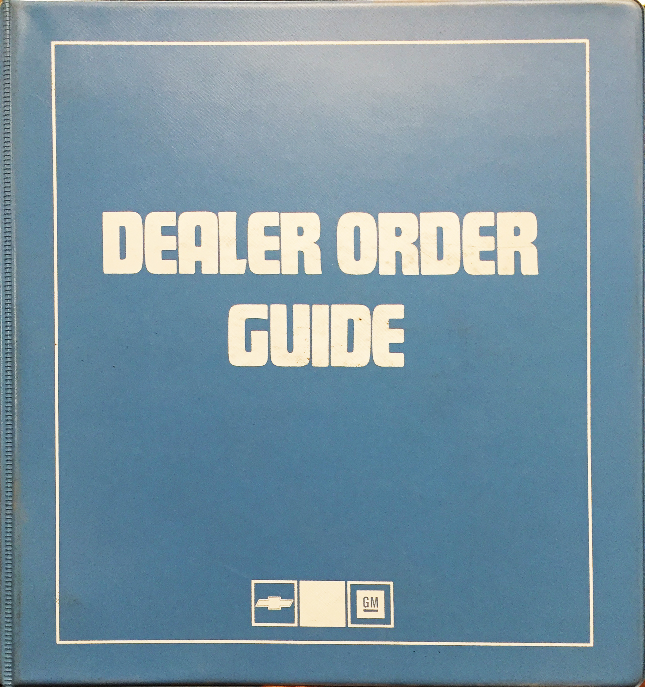 1986 Chevrolet Order Guide Dealer Album Original