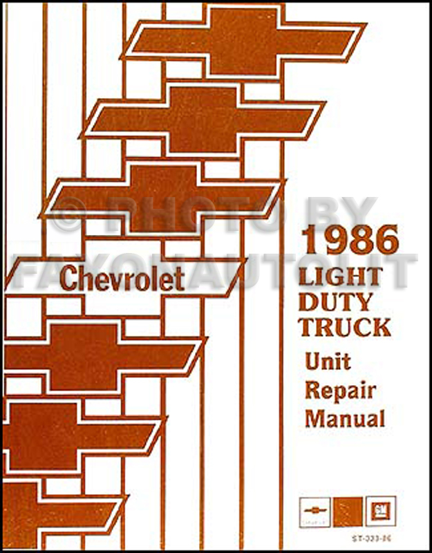 1986 chevrolet s-10 pickup & blazer repair shop manual ... 86 gmc s15 wiring diagram