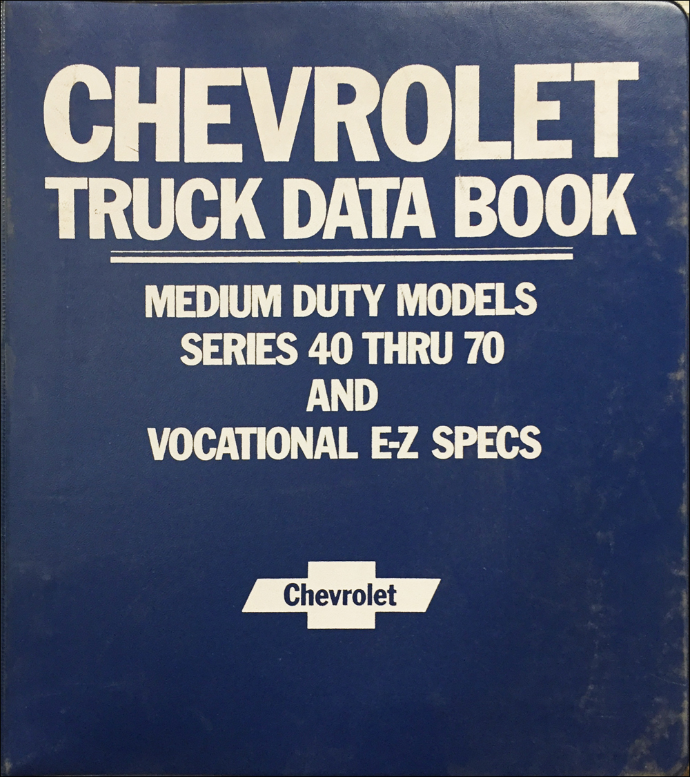 1986 Chevrolet Medium Duty Truck Data Book Original