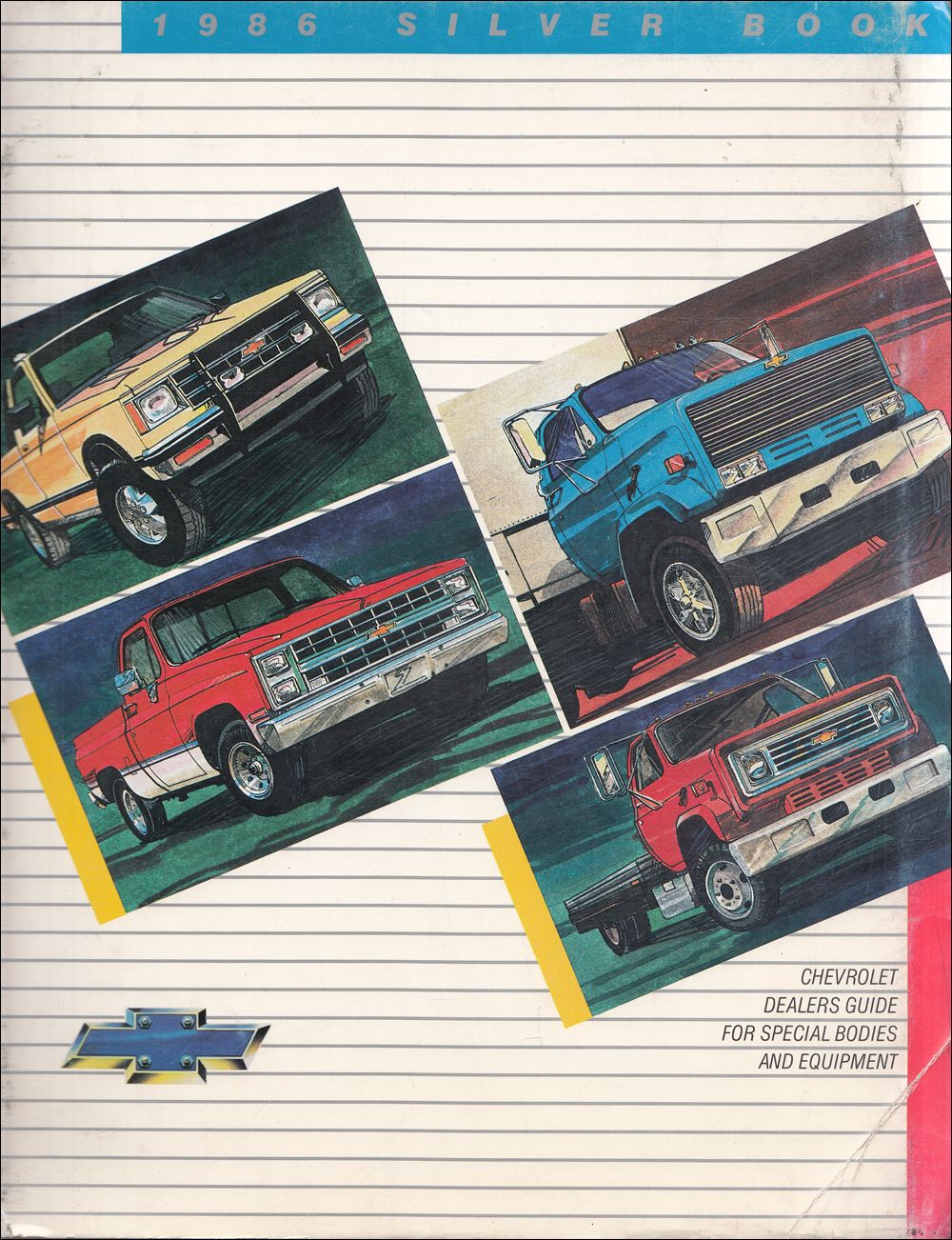 1986 Chevrolet Truck Silver Book Special Equipment Dealer Album inc Van Conversions