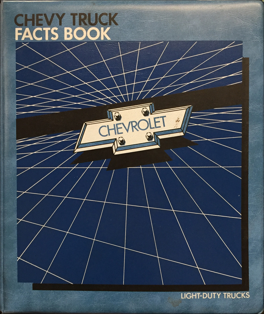 1986 Chevrolet Light Truck Facts Book Color and Upholstery Dealer Album Original