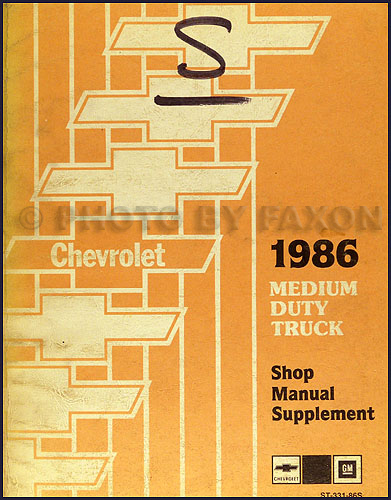 1986 Chevrolet Medium Duty Truck Unit Repair Manual Original